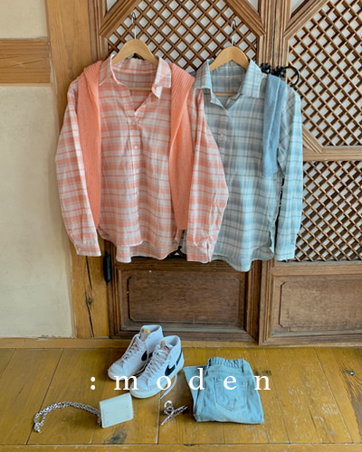 MODEN ,For you check shirts [예약판매]